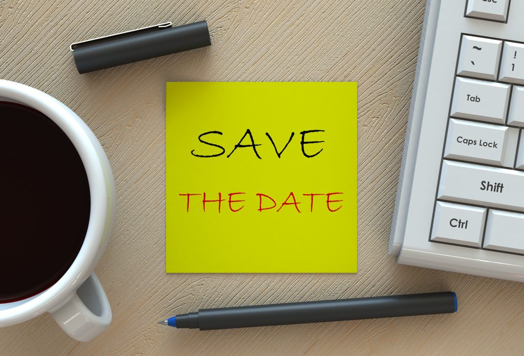 Reminder to save the date for a webinar