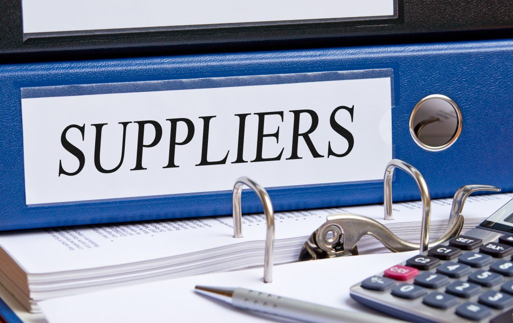 Binder list of preferred suppliers