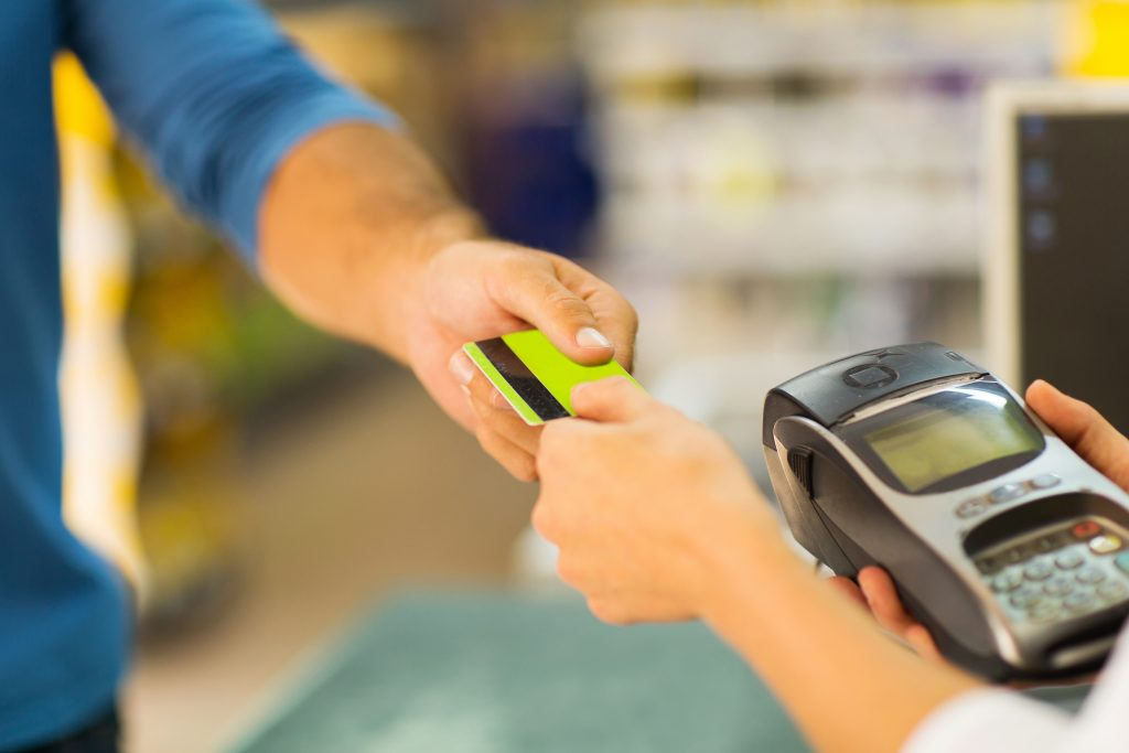 credit card and split transaction