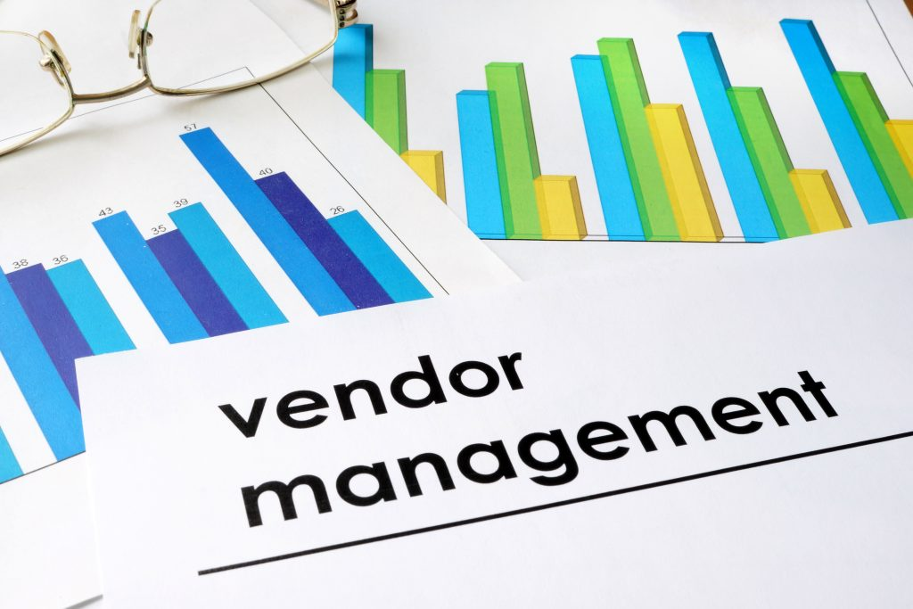 Charts used for vendor management or vendor fraud